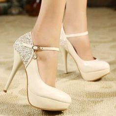 Women High Heels Ankle Strap Platform Pumps Shoes