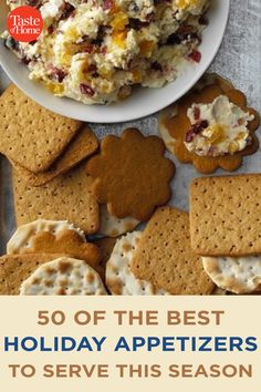 50 of the Best Holiday Appetizers to Serve This Season Best Holiday Appetizers, Holiday Fun, Holiday Recipes, Bacon Jam, Holiday Side Dishes, Crab Cakes, Side Dish Recipes, Appetizer Recipes, Breakfast Recipes