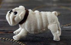knit-a-doggie :)  #breien www.stylink.nl/... #knitting knitted dog