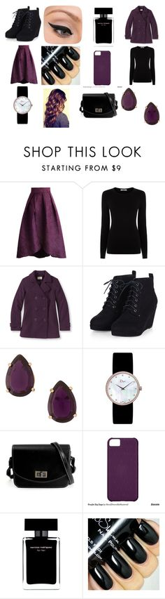 """""""E♥"""" by soolalcalde ❤ liked on Polyvore featuring Chicwish, Oasis, L.L.Bean, Christian Dior, Narciso Rodriguez, LORAC, women's clothing, women, female and woman"""