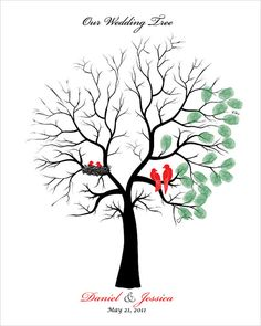 Wedding Family Tree guest book alternative by fancyprints on Etsy, $48.00