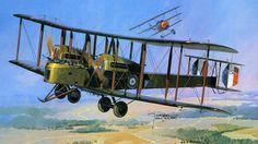 Vickers Vimy vs Fokker Dr.I, by Jarosław Wróbel