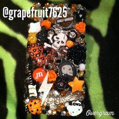 Rocker chick kawaii themed iPhone 4/4s decoden by grapefruit7625, $60.00