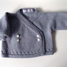 Golfino da neonato grigio in lana merino