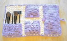 """This crochet makeup bag was one of my daily """"crochet on Etsy"""" features."""