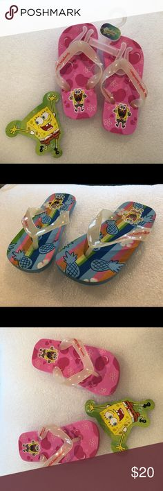 NWT original spongebob square pants flip flops The original Nickelodeon spongebob square pants flip flops.  For boys and girls. Larger quantity discounts available as well. They are a kids favorite, for birthday gifts or anytime you want to see a smile on your child's face 😃 Shoes Sandals & Flip Flops