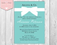 Bridal Shower Tiffany and Co. Inspired Blue & by sarahmaigadesigns, $12.99