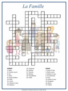 classroom words are a great place to start building french vocabulary this printable crossword. Black Bedroom Furniture Sets. Home Design Ideas