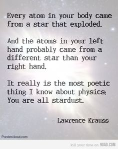 physics simplified: everything is stardust