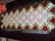 Caminho de mesa Crochet