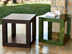 modern home furniture set parsons cube side table