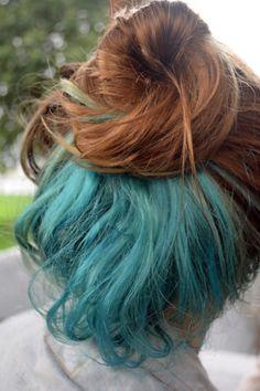 Cute blue berry hair streaks