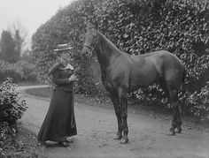 This is Lady Susan Beresford and her horse (with no name). Susan was a daughter of Lady Blanche Somerset (daughter of the 8th Duke of Beaufort) and John Henry de la Poer Beresford (fifth Marquis of Waterford, Lord Lieutenant of Waterford and Honorary Colonel of the Royal Artillery, South Irish Division).    At this time the Beresfords lived at Mayfield House, Portlaw, Co. Waterford. Here's some information on Mayfield House, unfortunately now in ruins...    Date: 15 December 1900