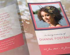 Check out Modern Funeral Program Template by SeraphimChris on Creative Market