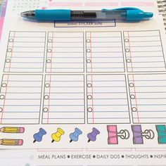 Notebook Boxes and Supplies Planner Stickers by sweetSTICKERsuite