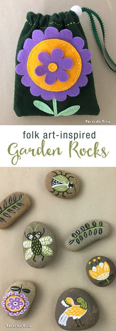 Garden rocks in draw