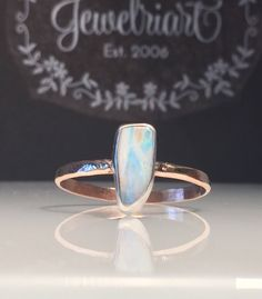 A personal favorite from my Etsy shop https://www.etsy.com/listing/528083322/rose-gold-opal-ringnatural-opal
