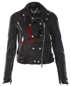 Ali Larter Prorsum High Quality Leather Jacket For Women    Jacket Features:   Outfit type: genuineLeather Jacket Gender: Female Color: Black Front: Front Zip Closure Collar: CoatStyle Collar Lining: Viscose Lining Cuffs: Zipper Pockets: Two Front pocke
