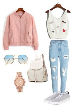 Casual Look by jenimarrivera on Polyvore featuring polyvore, fashion, style, Barbour, FOSSIL and clothing