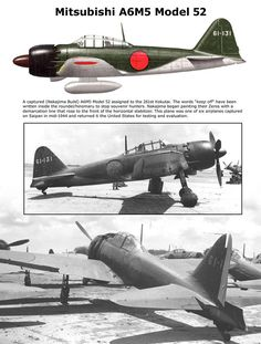 A6M5 Model 52 Ww2 Aircraft, Military Aircraft, Navy Air Force, Imperial Japanese Navy, Plane Design, War Thunder, Ww2 Planes, Model Airplanes, Aviation Art