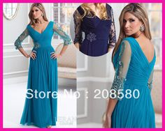2013 Turquoise Plus Size Chiffon Beaded Mother of the Bride Dresses Gowns M1437