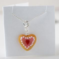 Handmade Gifts | Independent Design | Vintage Goods Heart Sugar Cookie Necklace
