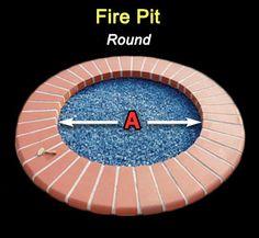 Diameter of Fire Pit Glass Rock