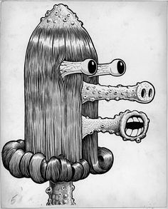 Basil Wolverton, 'Heap' 1955 Ink on paper 29.2 x 36.8 cm From MAD#17