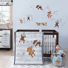 Looking for Bedtime Originals Mod Monkey 3 Piece Bedding Set ? Check out our picks for the Bedtime Originals Mod Monkey 3 Piece Bedding Set from the popular stores - all in one. Baby Crib Bedding Sets, Nursery Crib, Crib Sets, Themed Nursery, Baby Bedroom, Baby Boy Nurseries, Baby Cribs, Ideas Armario, Mod Monkey
