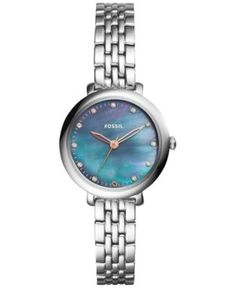 Fossil Women's Jacqueline Stainless Steel Bracelet Watch 26mm ES4210 - Silver