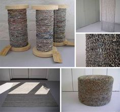 Colorful DIY Home-Spun Yarn from Recycled Newspapers | Designs & Ideas on Dornob