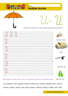 U Archives - Manute Pricepute Cursive Letters, Stories For Kids, Geography, Bookmarks, Alphabet, Bullet Journal, Activities, Autism, Homeschooling