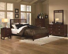 Paula Medium Cherry Wood Master Bedroom Set