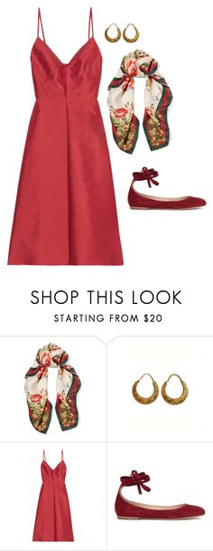 """""""ornate"""" by sssttle ❤ liked on Polyvore featuring Gucci, Urbiana, Valentino and Gianvito Rossi"""