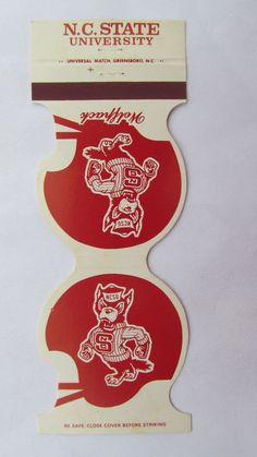 NC State University Wolfpack 1980 Sched. Football Jewelite Sport Matchbook Cover