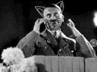 hitler meow animated GIF