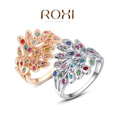 ROXI peacock Rings Rose Gold Plated Top Quality with Genuine Austrian Crystals 100% Hand Made Fashion Jewelry Christmas Gift-in Wedding Bands from Jewelry on Aliexpress.com | Alibaba Group