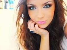 make up is gorgeous! White eyeliner underneath and in the corner