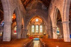 Looking up the Brechin Cathedral nave
