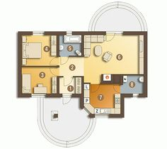 Single Storey House Plans, One Storey House, House Floor Design, Bungalow House Design, Home Design Diy, Home Design Plans, Low Cost House Plans, Modern Bungalow House Plans, 2 Bedroom House Plans