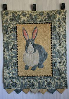 "Rascal Rabbit pattern, 20 x 25"", at Buzzing and Bumbling"