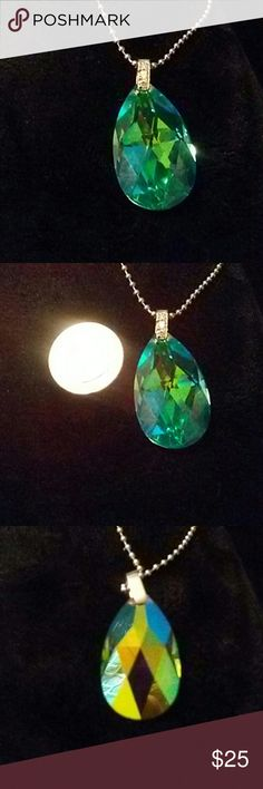 Rainbow Mystic topaz pendant Rainbow Mystic topaz has a prism like design can be green on one side purple on the other depending on your lighting Jewelry Necklaces