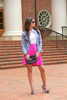 different option for my pink skirt  |   For All Things Lovely: Pleated