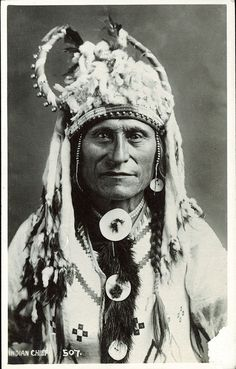 Postcard 9712: Harmon Byron, Indian Chief ([before 1942])