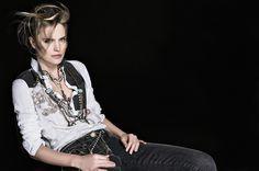 #danieladallavalle #collection #elisacavaletti #fw16 #white #black #denim #shirt #necklace