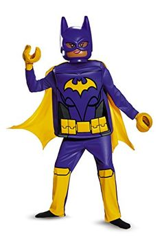 [halloween batman costumes for girls] Batgirl LEGO Movie Deluxe Costume, Purple, Small Years) * Check this awesome product by going to the link at the image. (This is an affiliate link) Batman Costume For Girls, Batman Costumes, Batgirl Costume, Movie Costumes, Girl Costumes, Children Costumes, Costume Ideas, Lego Ninjago Movie, Lego Batman Movie