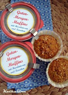 Guten-Morgen-Muffins mit Karotten und Haselnüssen