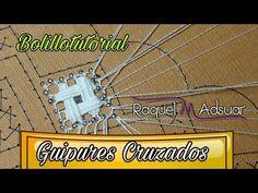 010 Guipures Cruzados de Mercé Ribas. Curso Encaje de Bolillos. Raquel M. Adsuar Bolillotuber - YouTube