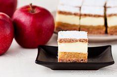 ciasto z jabłkami i budyniem