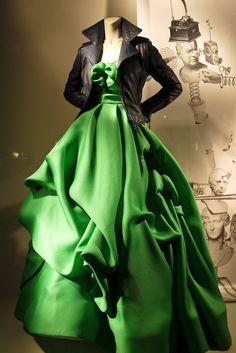 Oscar de la Renta gown, Balenciaga jacket
